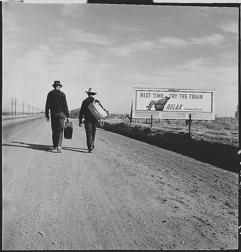Toward Los Angeles, California - Mars 1937  par Dorothea Lange,