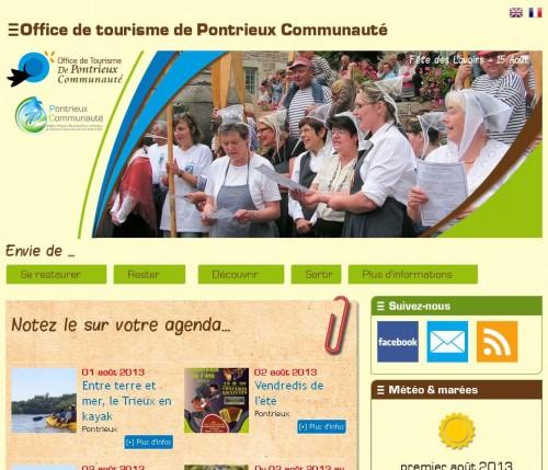 page-d-accueil-du site-de-pontrieux-tourisme-passeurs-de-savoirs.fr