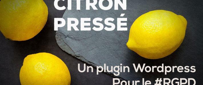 Citron pressé un plugin WordPress personnalisé pour être conforme au #RGPD